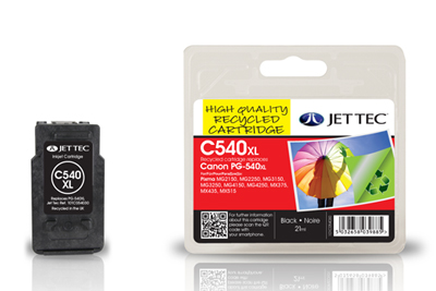 Jettec Replacement Black Ink Cartridge for Canon PG-540XL, 21ml