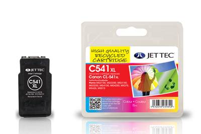 Jettec Replacement Colour Ink Cartridge for Canon CL-541XL, 15ml