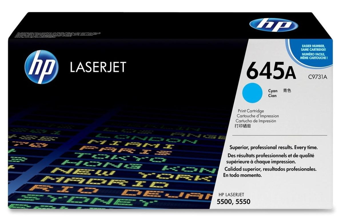 HP C9731A Cyan (645A) Toner Cartridge