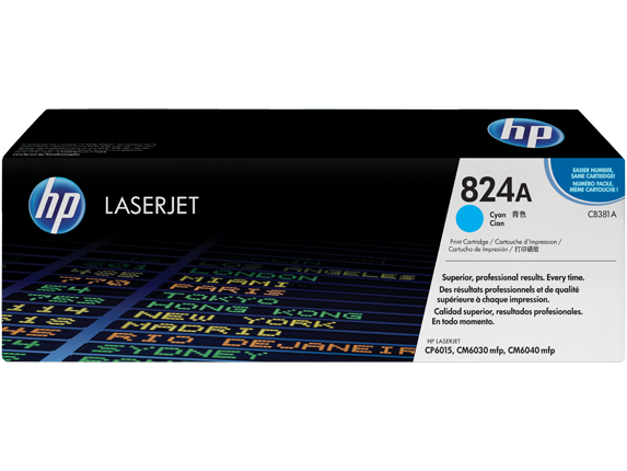 HP CB 381A Cyan (824A) Toner Cartridge - CB381A
