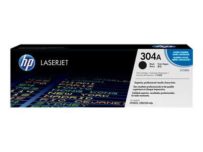 HP 304A Black Laser Toner Cartridge - CC 530A