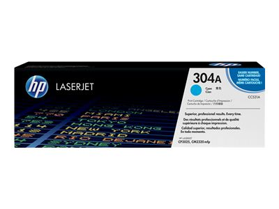 HP 304A Cyan Laser Toner Cartridge - CC 531A