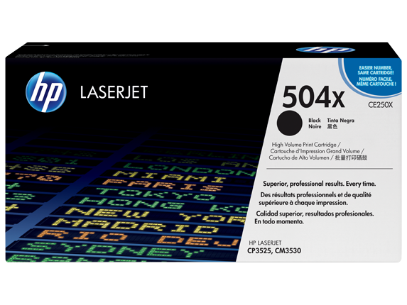 HP CE250X High Capacity Black (504X) Toner Cartridge - CE 250X