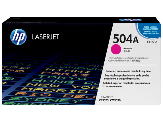 HP CE253A Magenta (504A) Toner Cartridge - CE 253A