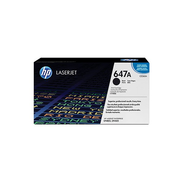 HP CE26A Standard Capacity Black (647A) Toner Cartridge - CE 260A