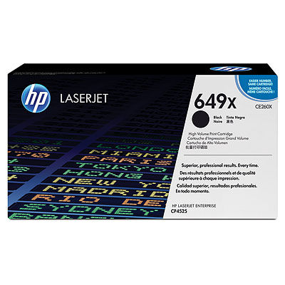 HP CE260X High Capacity Black (649X) Toner Cartridge - CE 260X