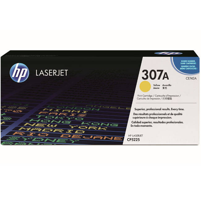 HP CE742A Yellow (307A) Toner Cartridge - CE 742A