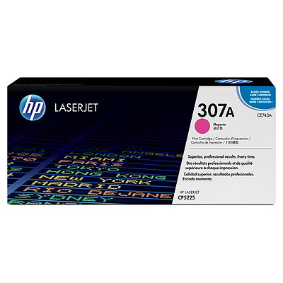 HP CE743A Magenta (307A) Toner Cartridge - CE 743A