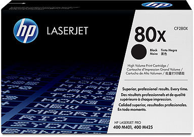 HP 80X Twin pack High Capacity Black Toner Cartridges - CF280XD