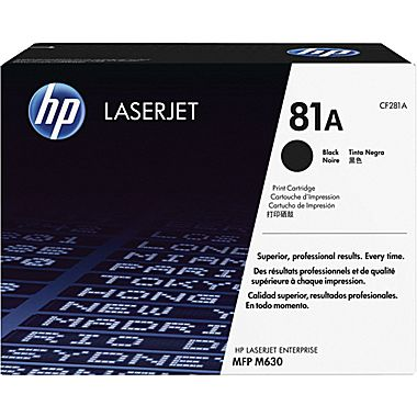 HP 81A Toner Cartridge, 10.5K Page Yield