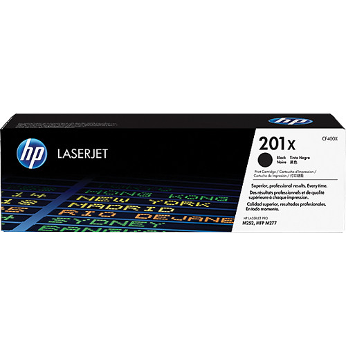 HP 201X High Capacity Black Toner Cartridge, 2.8K Page Yield