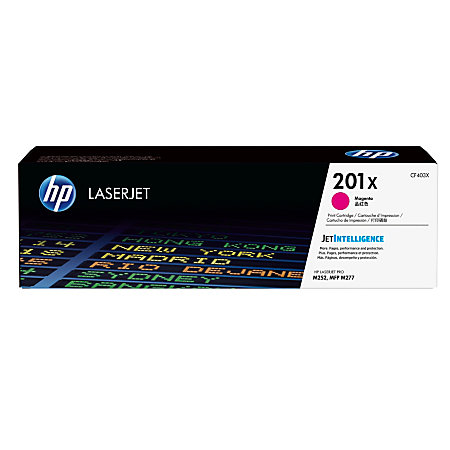 HP 201X High Capacity Magenta Toner Cartridge, 2.3K Page Yield