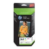 HP 364 Series Photosmart Value Pack Standard C/M/Y Ink Cartridges plus 85 Sheets, 10 x 15 cm