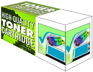 Premium Quality Cyan Laser Toner Cartridge Compatible with Xerox 106R01627, 1K Page Yield