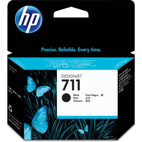 HP 711 Black Ink Cartridge - CZ129 Designjet Ink, 38ml
