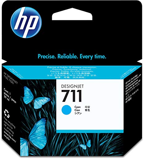 HP 711 Cyan Ink Cartridge - CZ130 Designjet Ink, 29ml
