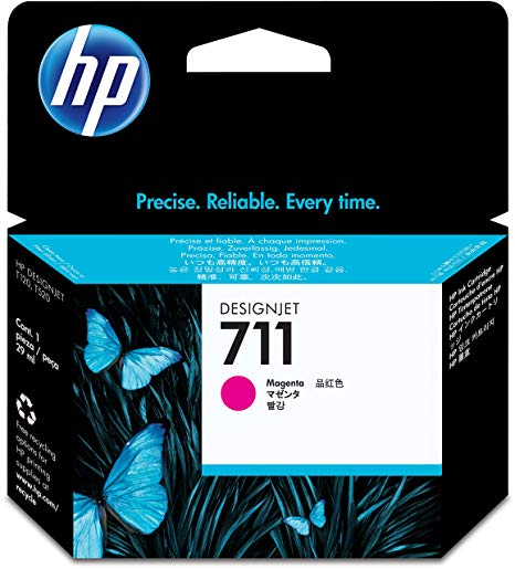 HP 711 Magenta Ink Cartridge - CZ131 Designjet Ink, 29ml