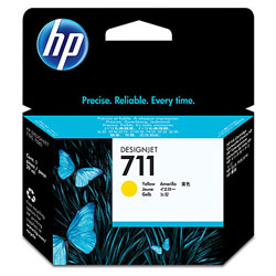 HP 711 Yellow Ink Cartridge - CZ132 Designjet Ink, 29ml
