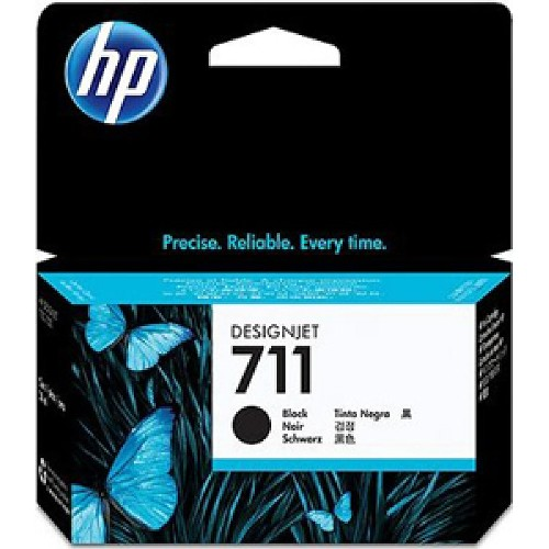HP 711 High Capacity Black Ink Cartridge - CZ133 Designjet Ink, 80ml