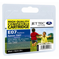 Jet Tec ( Made in the UK) Black Ink Cartridge for T007401, 20ml