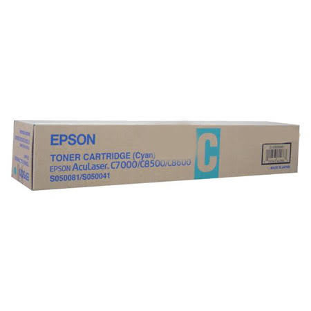 Epson C13S050041 Cyan Toner Cartridge, 6K