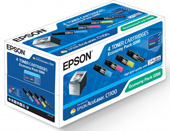 Espon Quad Pack Black, Cyan, Magenta, Yellow Laser Cartridges