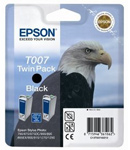 Epson T007 Twin Pack Black Ink Cartridges C13T007402
