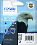 Epson Multi Pack T007 Black and T008 Colour Ink Cartridges