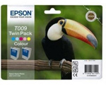 Epson T009 Twin Pack Colour Ink Cartridges C13T009402