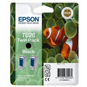 Epson Twin Pack T026 Black Ink Cartridge