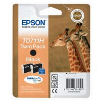 Epson T0711H DuraBrite Ultra High Capacity Black Ink Cartridge (Twin Pack)