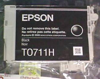 Epson T0711H DuraBrite Ultra High Capacity Single Black Ink Cartridge (Clear Pack)