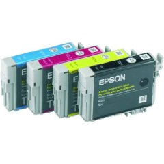 Epson T0715 Blister Quad Pack (Black, Cyan, Magenta, Yellow) Ink Cartridges
