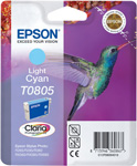 Epson T0805 Claria Photographic Light Cyan Ink Cartridge