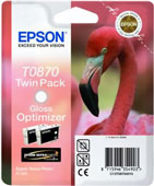 Epson T0870 Twin Pack UltraChrome Hi-Gloss2 Gloss Optimizer Ink Cartridges