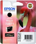 Epson T0871 UltraChrome Hi-Gloss2 Photo Black Ink Cartridge