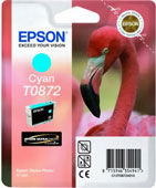 Epson T0872 UltraChrome Hi-Gloss2 Cyan Ink Cartridge