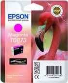 Epson T0873 UltraChrome Hi-Gloss2 Magenta Ink Cartridge