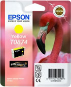 Epson T0874 UltraChrome Hi-Gloss2 Yellow Ink Cartridge