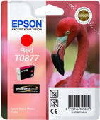 Epson T0877 UltraChrome Hi-Gloss2 Red Ink Cartridge