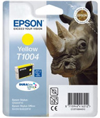Epson T1004 DuraBrite Ultra Yellow Ink Cartridge ( Rhino )