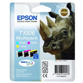 Epson T1006 DuraBrite Ultra Multi Pack Cyan, Magenta, Yellow Ink Cartridges ( Rhino )