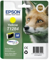 Epson T1284 DuraBrite Ultra Fox Standard Capacity Yellow Ink Cartridge