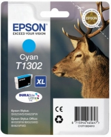 Epson T1302 DuraBrite Ultra Stag XL Extra High Capacity Cyan Ink Cartridge