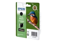 Epson T1591 Kingfisher UltraChrome Hi-Gloss2 Photo Black Ink Cartridge