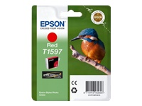 Epson T1597 Kingfisher UltraChrome Hi-Gloss2 Red Ink Cartridge