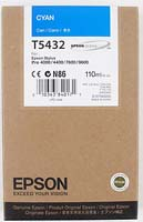 Epson T5432 UltraChrome Cyan Ink Cartridge C13T543200, 110ml