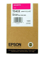 Epson T5433 UltraChrome Magenta Ink Cartridge C13T543300, 110ml