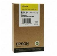 Epson T5434 UltraChrome Yellow Ink Cartridge C13T543400, 110ml