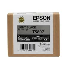 Epson T5807 Light Black Ink Cartridge C13T580700